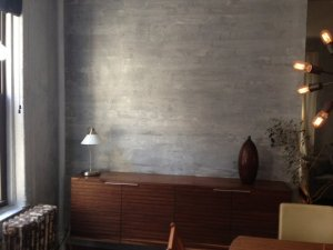 faux concrete wall treatment